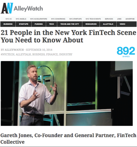 Gareth Jones listed as top people in fintech